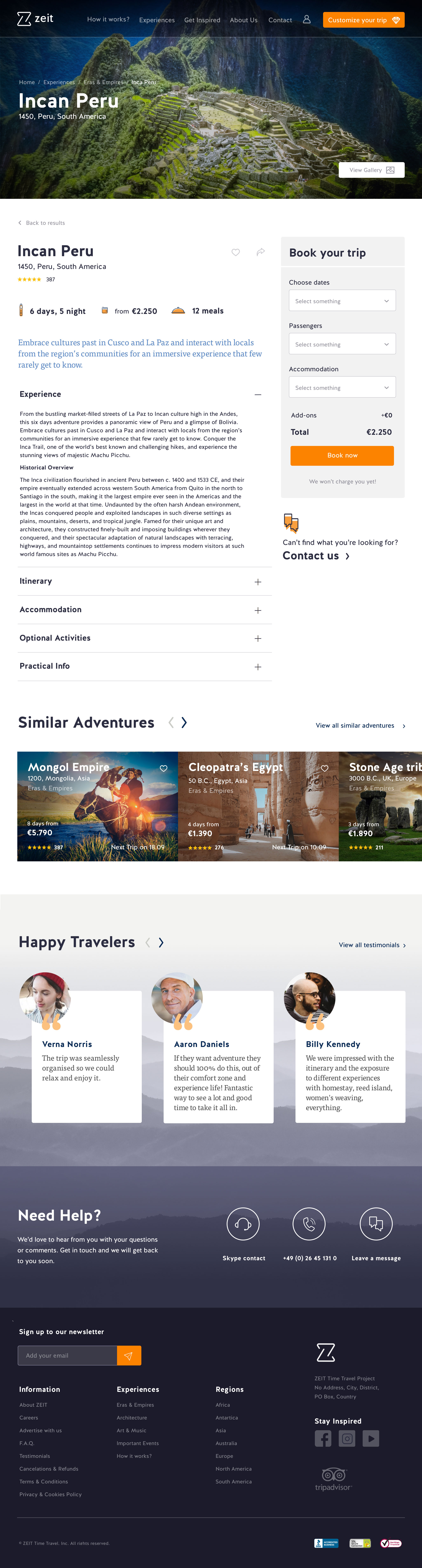 Adventure–Experience
