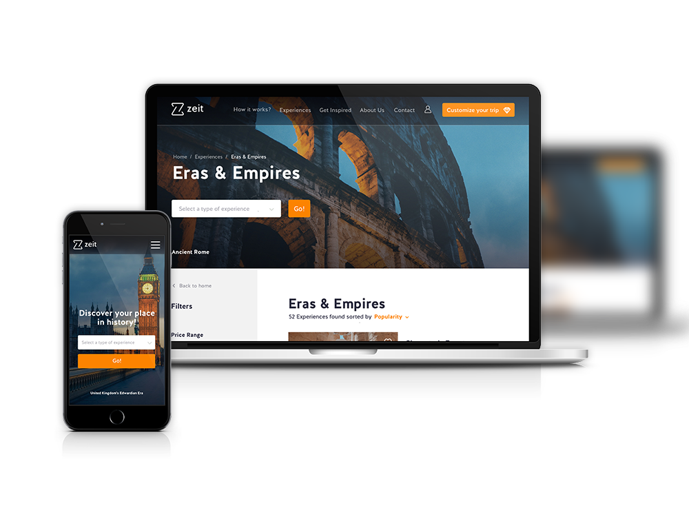 Zeit responsive website